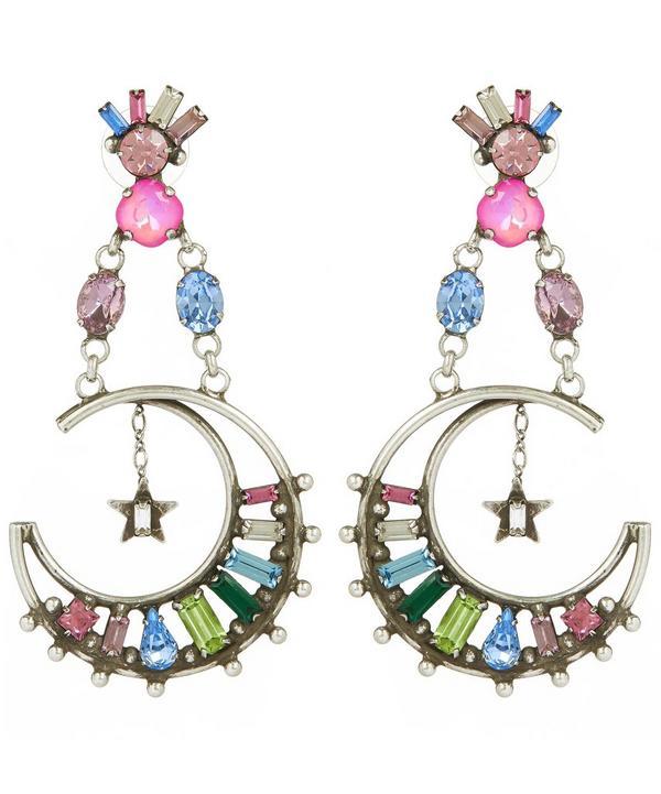 Silver Grianne Crystal Drop Earrings