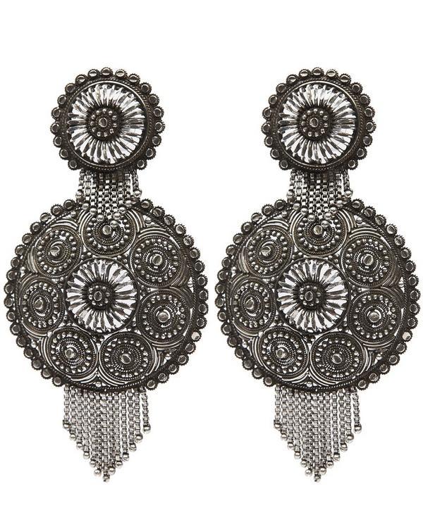 Ahava Oxidised Silver Earrings