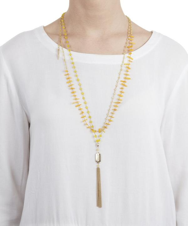 Gold and Yellow Quartz Favoloso Necklace