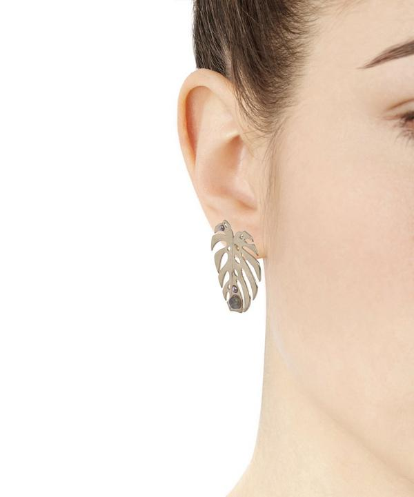 Oasis Leaf Stud Earrings