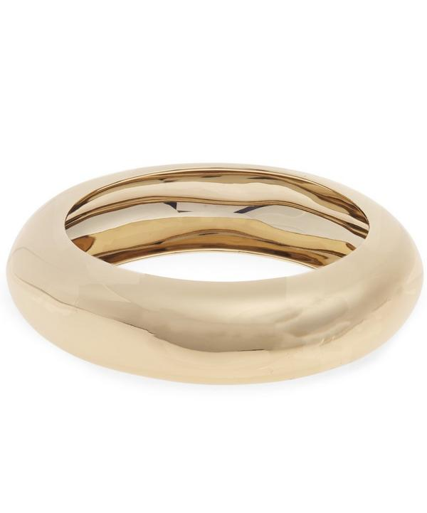 Thin Rhodium Cuff Bracelet