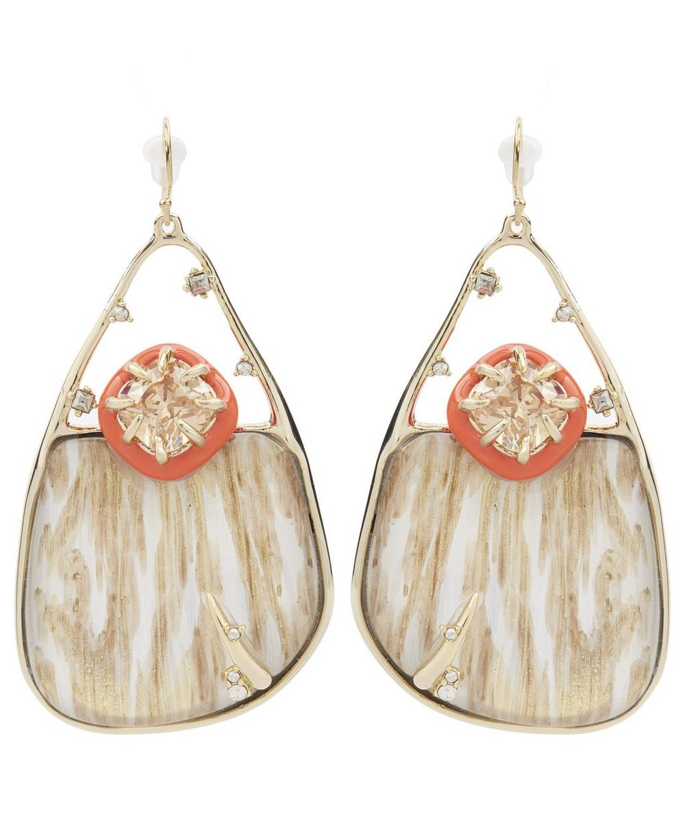 Wood Grain Effect Drop Earrings