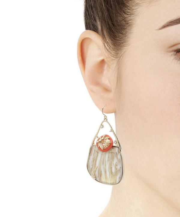 Wood Grain Effect Drop Earrings