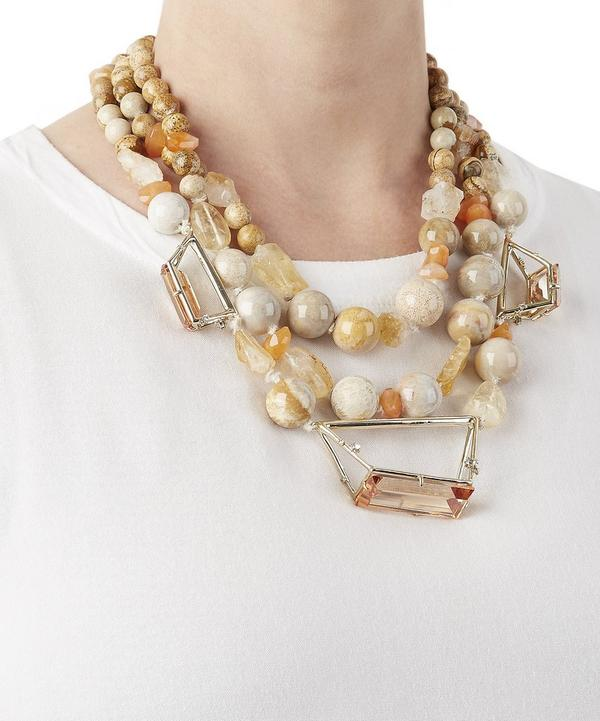 Geometric Beaded Necklace