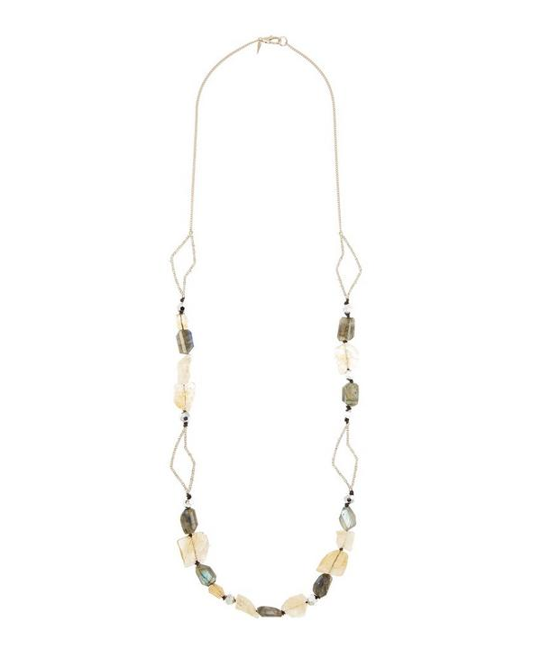 Abstract Petal Strand Necklace