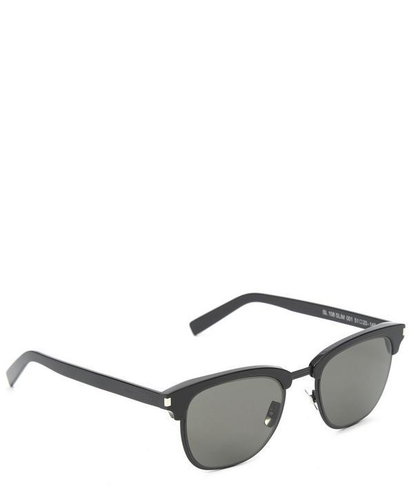 Slim Half-Frame Wayfarer Sunglasses