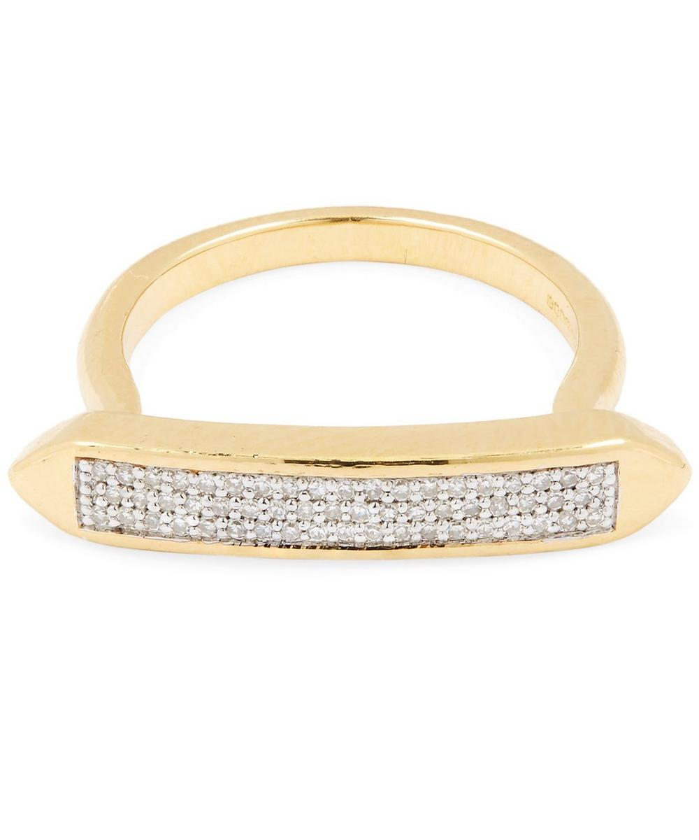 Gold-Plated Baja Skinny Diamond Ring