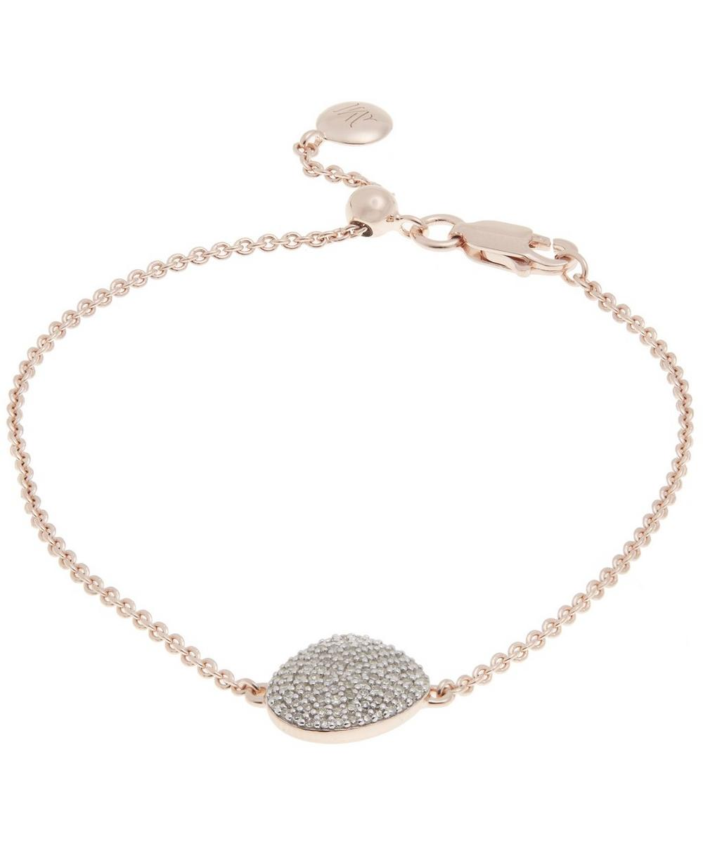 Rose Gold-Plated Nura Pebble Diamond Bracelet