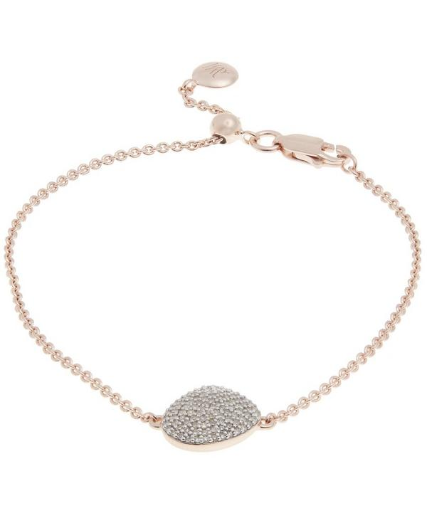 Rose Gold-Plated Nura Pebble Diamond Bracelet
