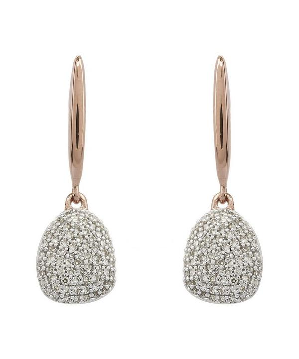 Rose Gold-Plated Small Pebble Drop Earrings
