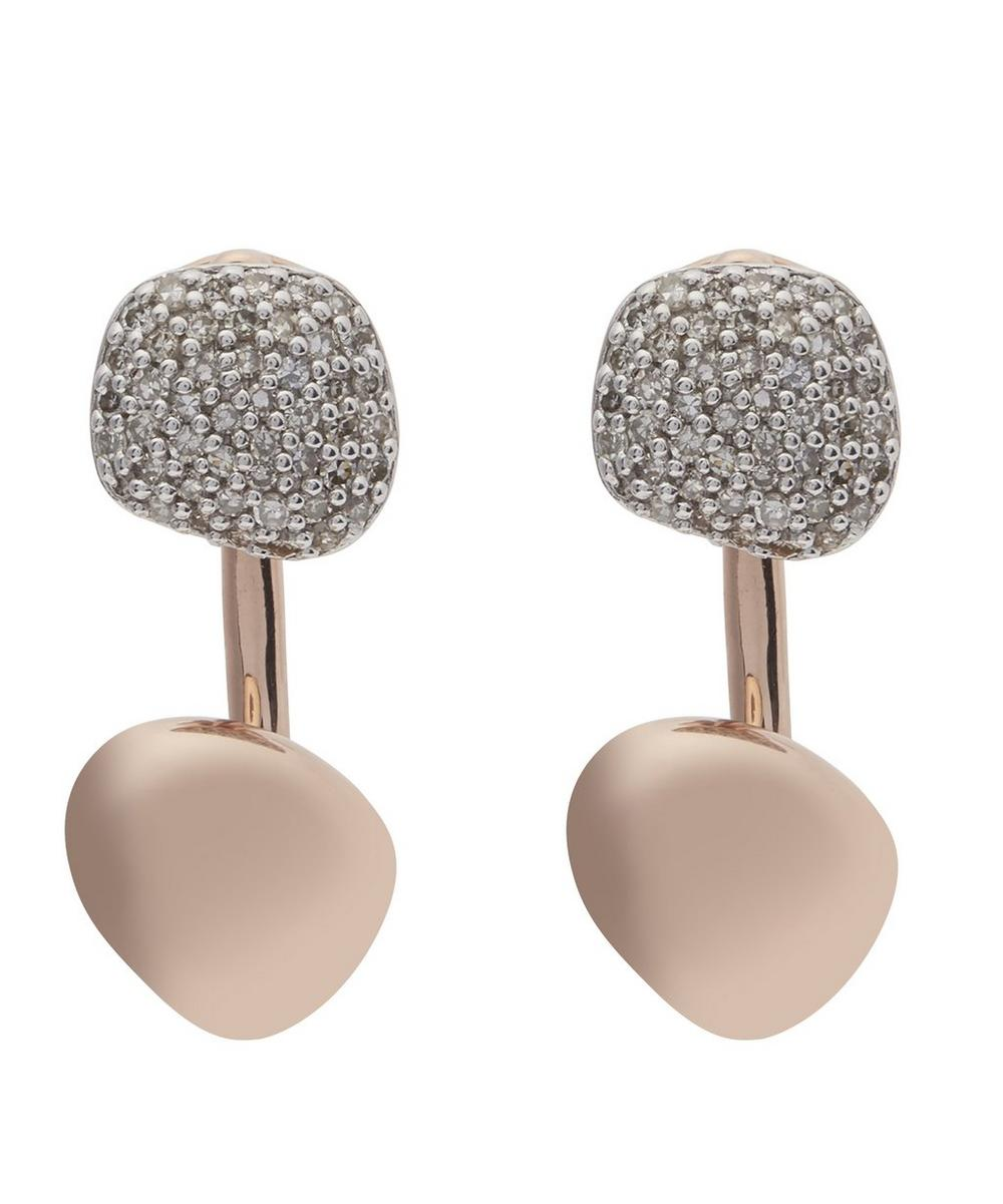 Rose Gold Vermeil Nura Nugget Diamond Ear Jacket Earrings