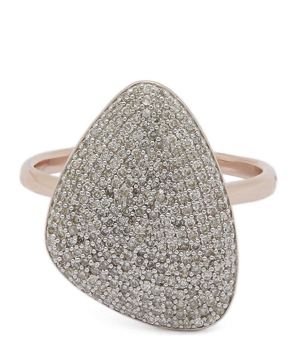 Rose Gold-Plated Nura Teardrop Diamond Ring