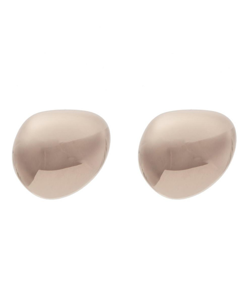 Rose Gold-Plated Nura Polished Pebble Stud Earrings