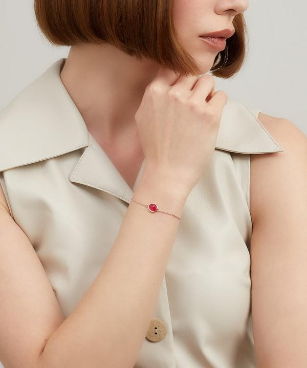Rose Gold-Plated Pink Quartz Siren Fine Chain Bracelet