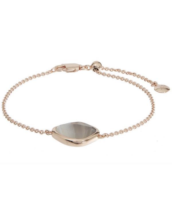 Rose Gold-Plated Grey Agate Siren Nugget Bracelet