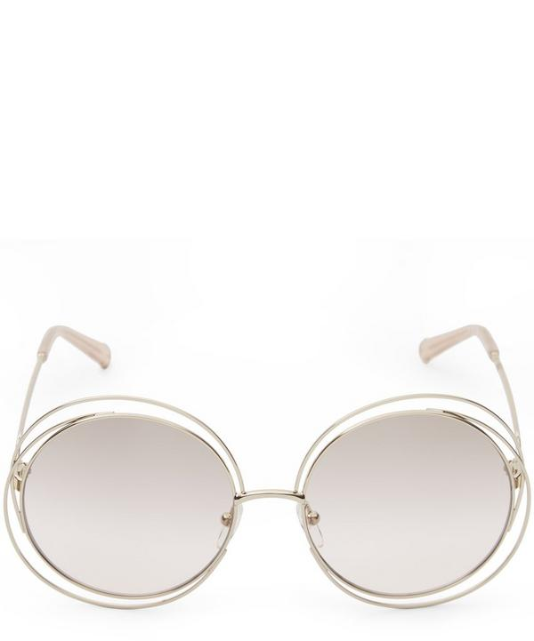 114S Round Oversized Sunglasses