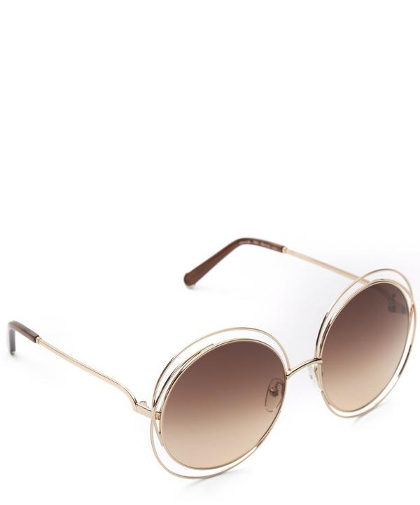 114S Round Oversized Sunglasses