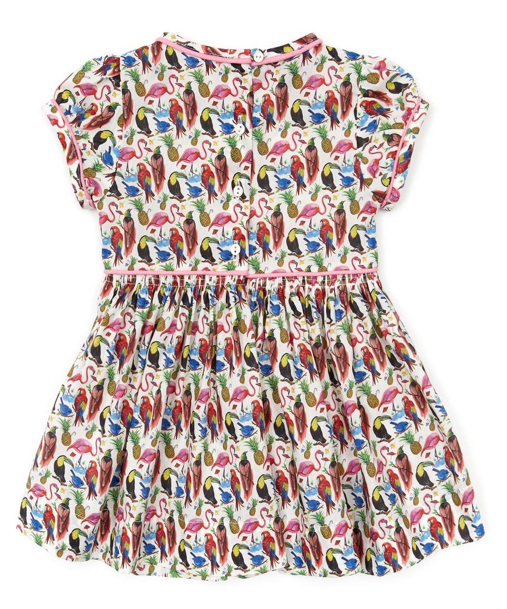 Birds of  Paradise Short Sleeve Dress