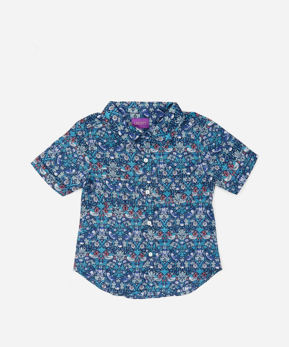 Strawberry Thief Short Sleeve Tana Lawn Cotton Shirt 3-24 Months