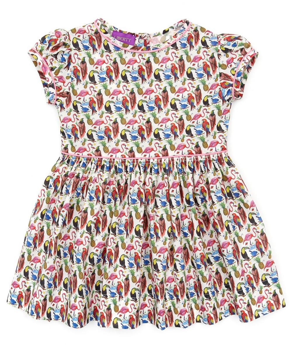 Paradise Birds Short Sleeve Dress