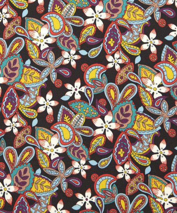 Lemon Flowers Silk Satin