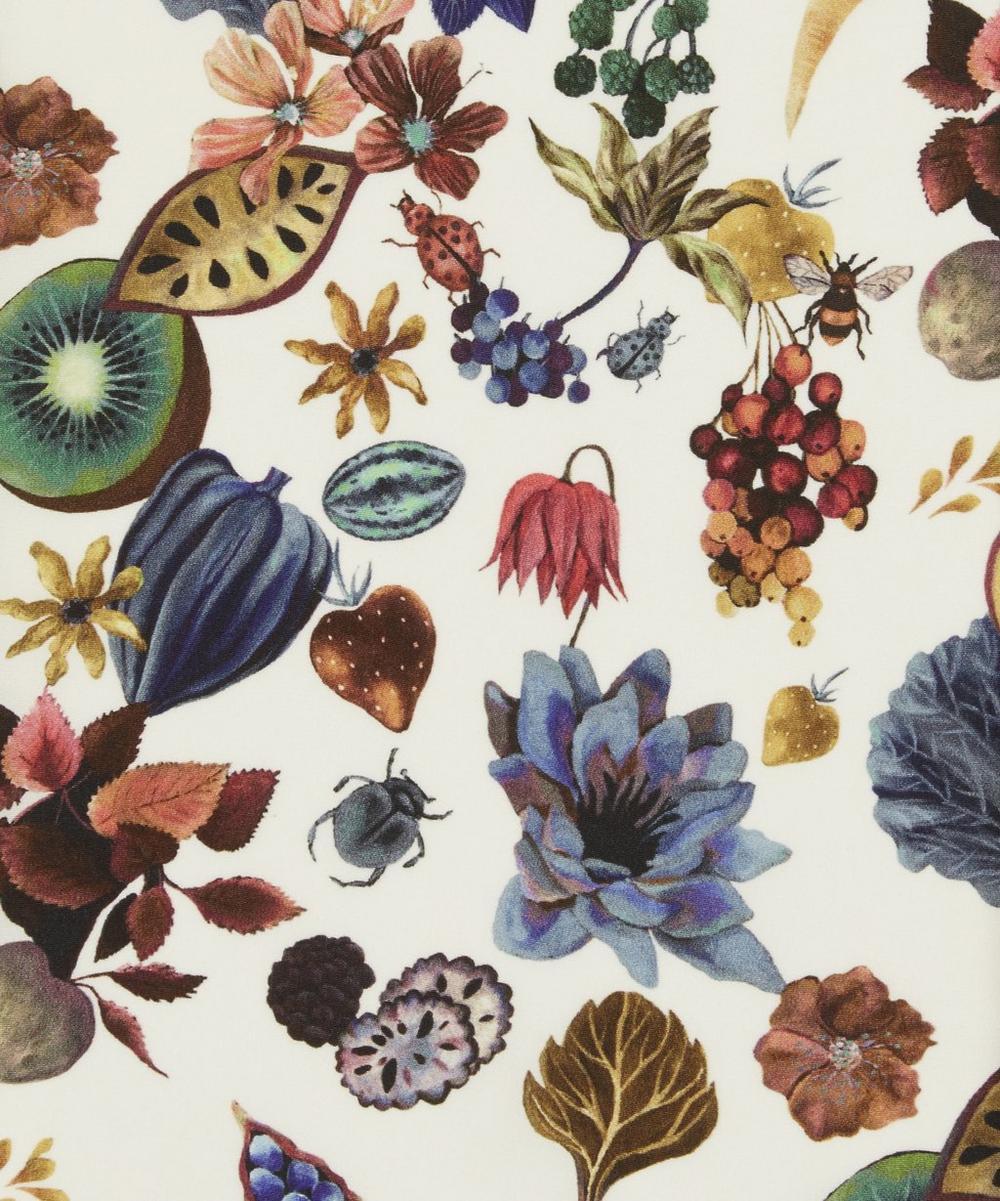 Floral Earth Silk Crepe de Chine
