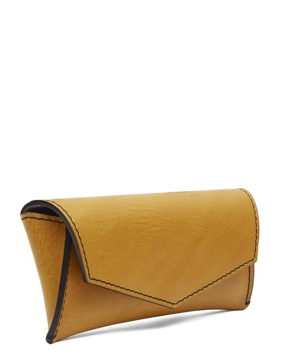 Large Lined Leather Sunglasses Case