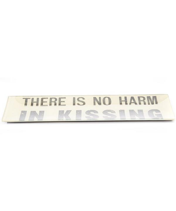 No Harm in Kissing Rectangular Tray