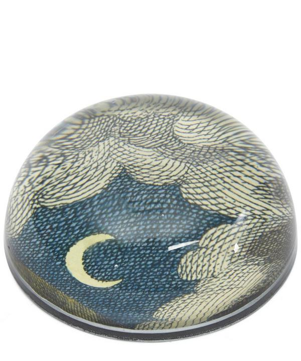 Clouds Crescent Moon Paperweight
