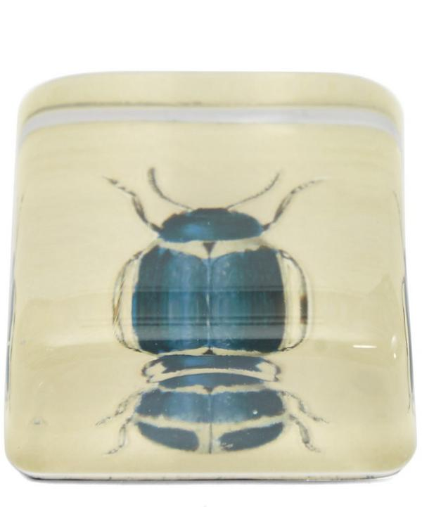Blue Beetle Paperweight