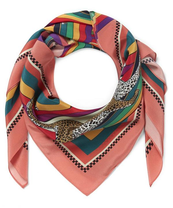 Tippy Town Small Silk Scarf