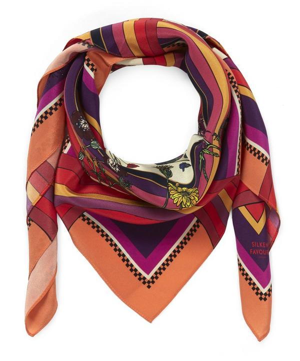 Small Freaky Floral Silk Scarf