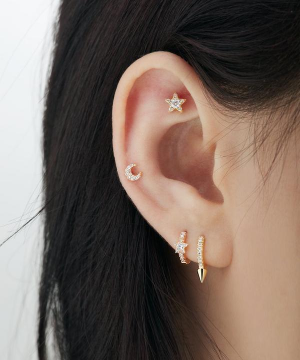 5.5mm Diamond Star Threaded Stud Earring