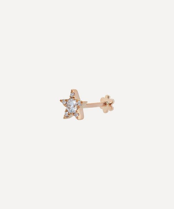5.5mm Diamond Star Threaded Stud Earring