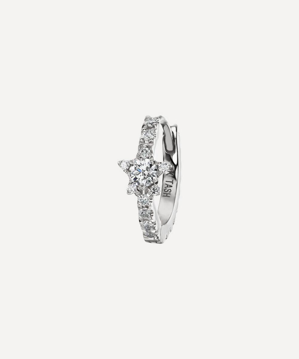 5/16' Diamond Star Eternity Hoop Earring