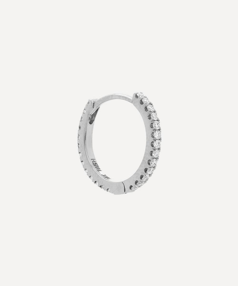 3/8' Diamond Eternity Hoop Earring
