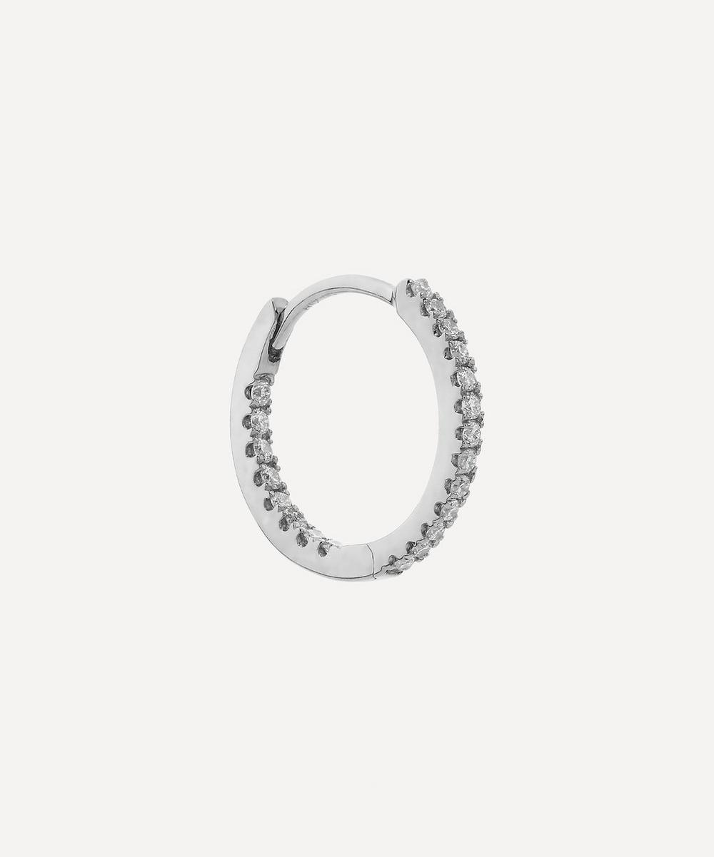 3/8' Diamond Front-Facing Eternity Hoop Earring