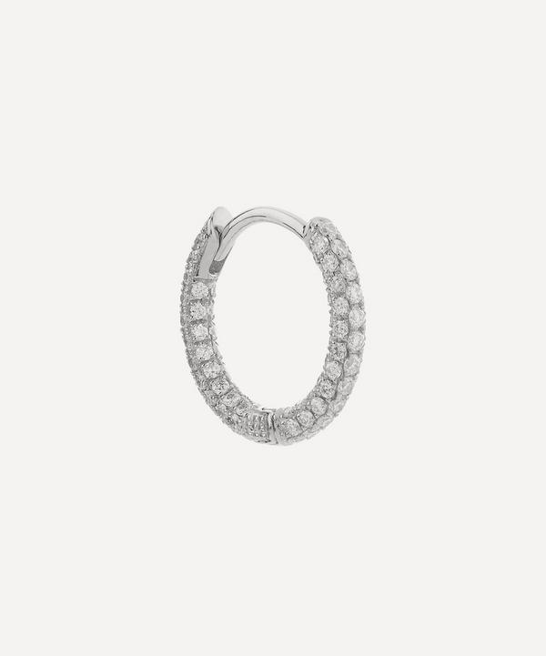 "5/16"" Diamond Five Row Pave Earring"