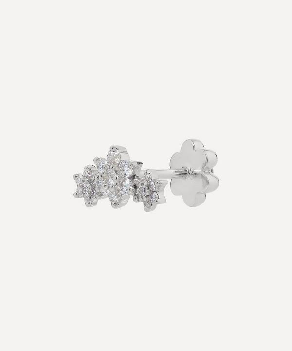 Diamond Flower Garland Threaded Stud Earring