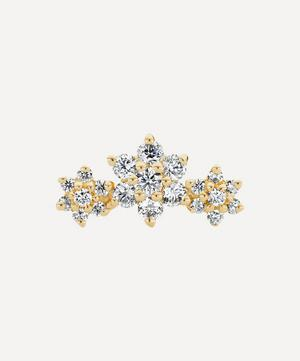 Diamond Flower Garland Threaded Stud Earring