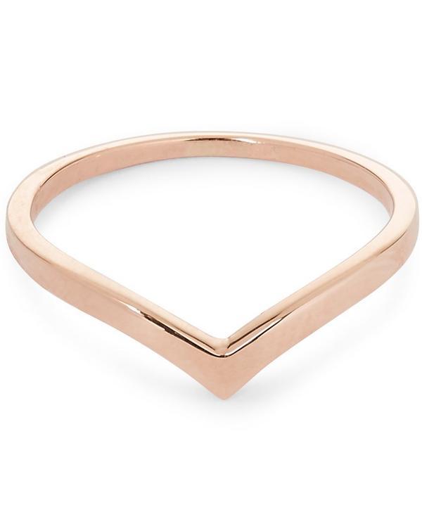 Rose Gold V-Shaped Orbit Ring