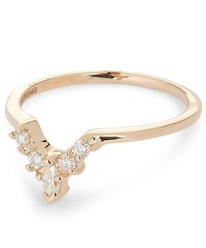 Rose Gold White Diamond Petit Marquise Tiara Ring