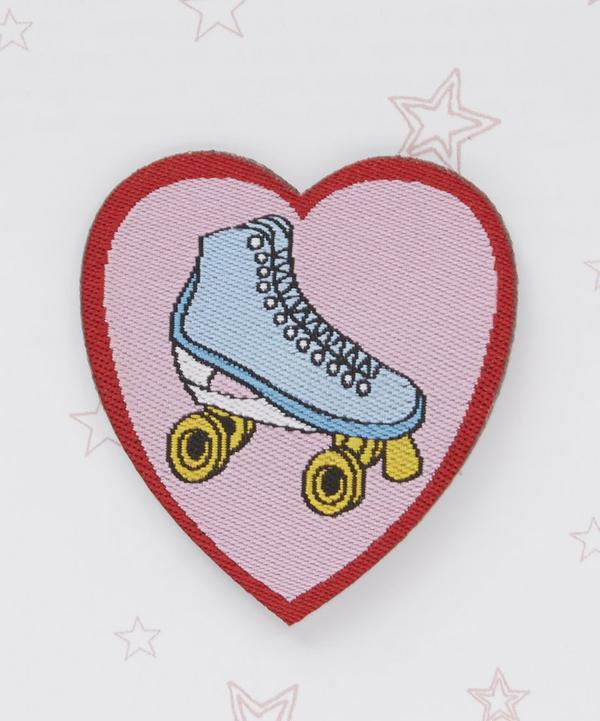 Rollerskate Pink Heart Patch