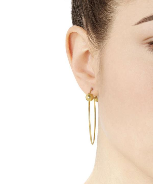 Gold-Plated Solar Hoop Earring