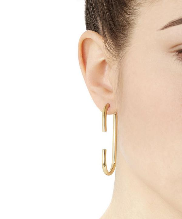 High Polished Gold-Plated Vertical Earring