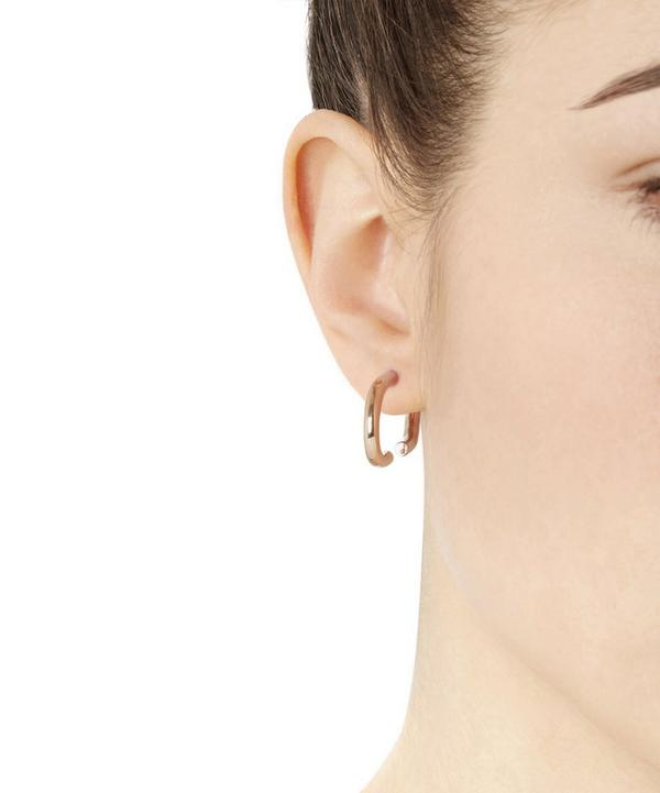 Rose Gold-Plated Horizontal Earring