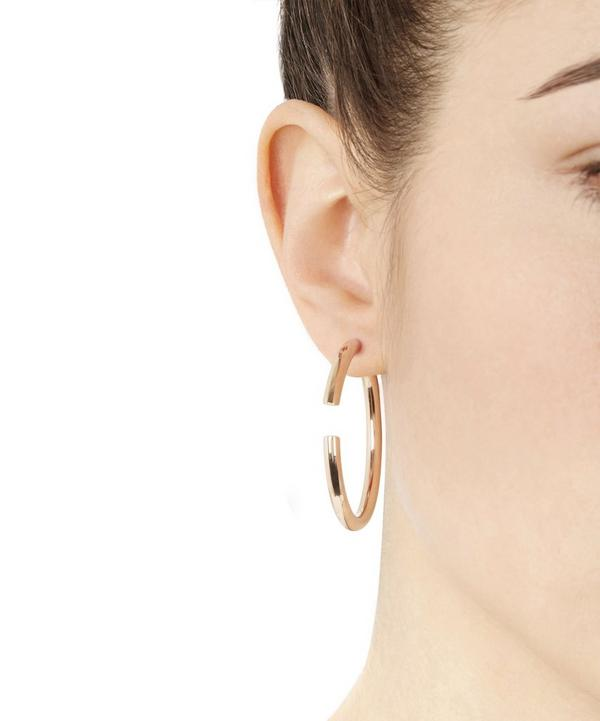 Rose Gold-Plated Disruption 48 Earring