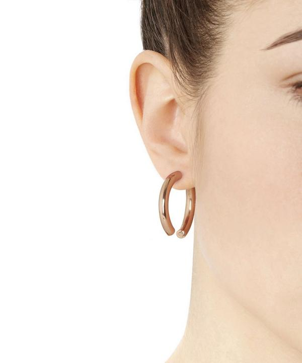 Rose Gold-Plated Broken 25 Earring