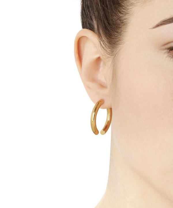 Gold-Plated Broken 25 Earring