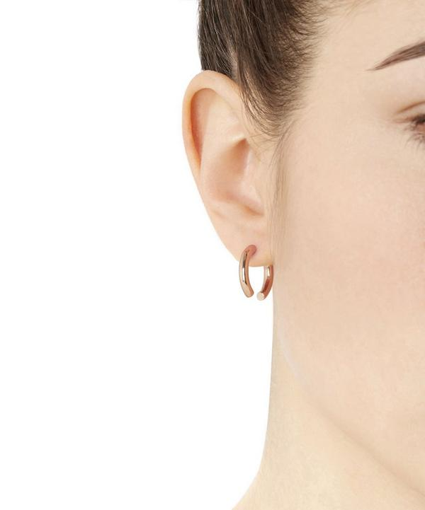 Rose Gold-Plated Broken 18 Earring